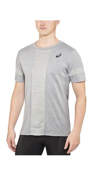 asics Stripe - T-shirt course à pied Homme - gris